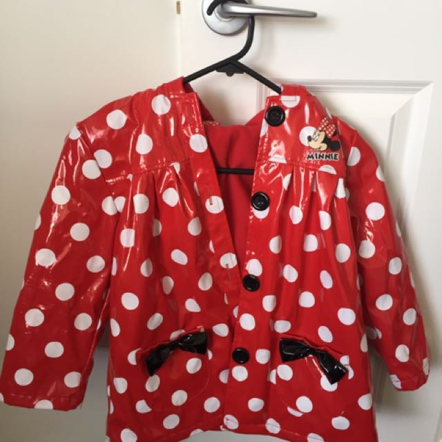 Girls Minnie Mouse Raincoat