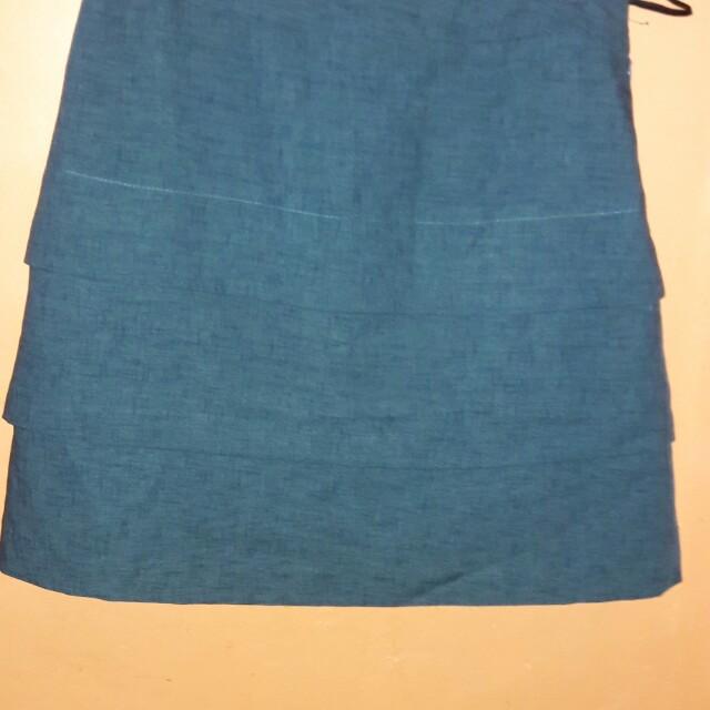 Green Layered Skirt