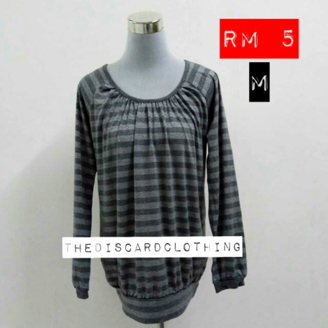 GREY STRIPES TOPS