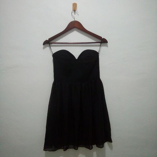 H&M Black Strapless Dress