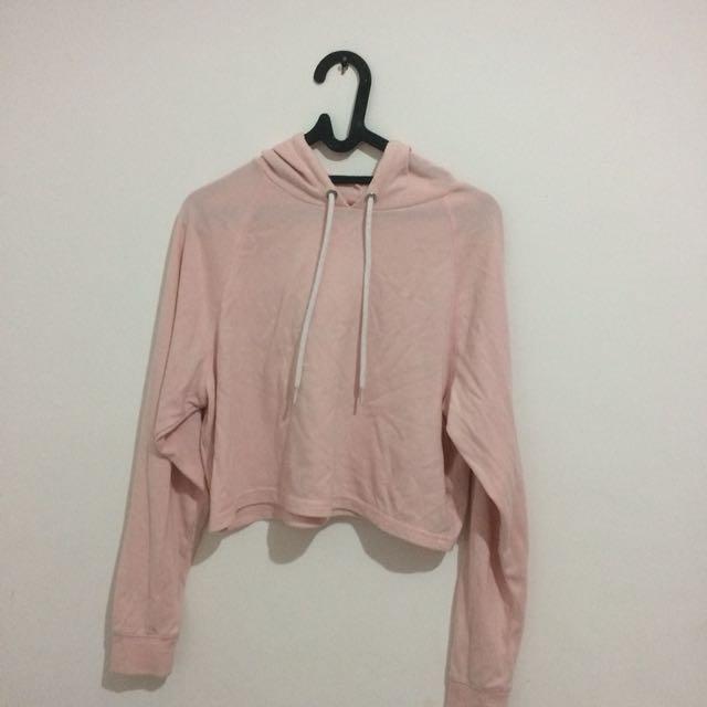 H&M hoodie babypink