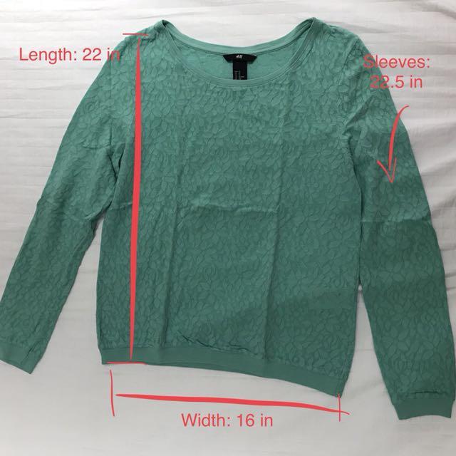 H&M Textured Longsleeves