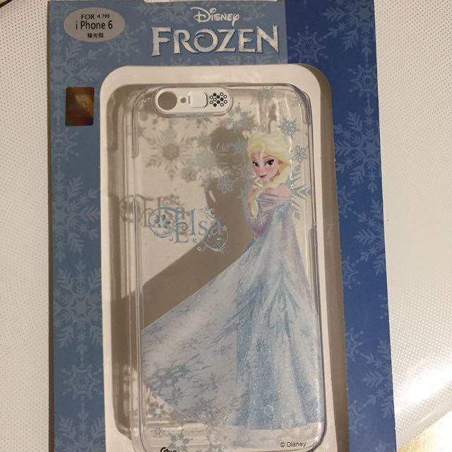 I phone6 4.7吋 冰雪奇緣發光保護殼 二手 狀態良好