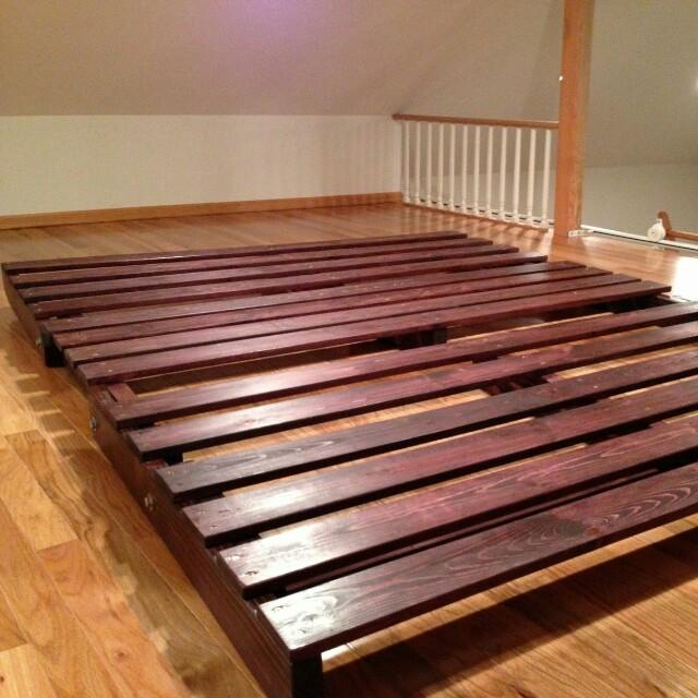 Ikea Japanese Style Floor Platform Single Bed Frame Furniture Home Living Frames Mattresses On Carousell