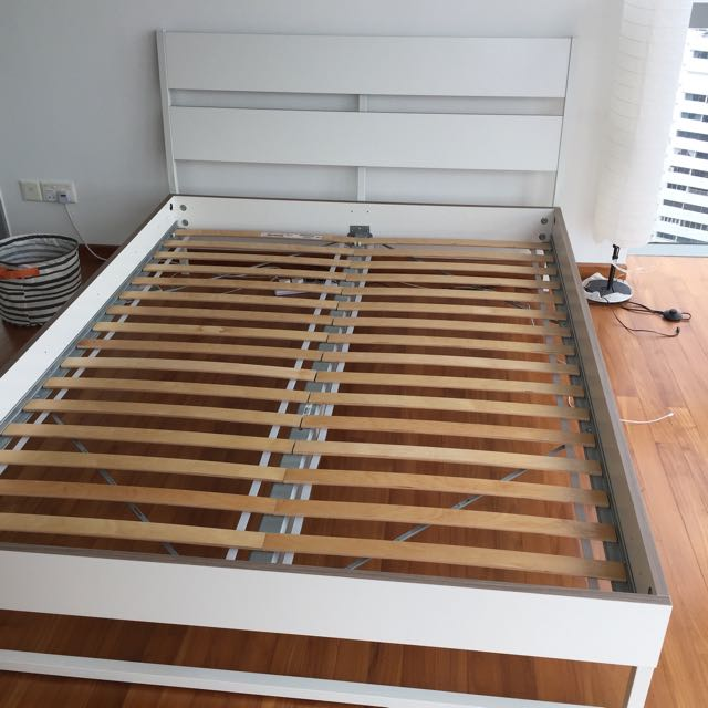 IKEA TRYSIL Bed frame with slats in excellent condition!!, Furniture ...