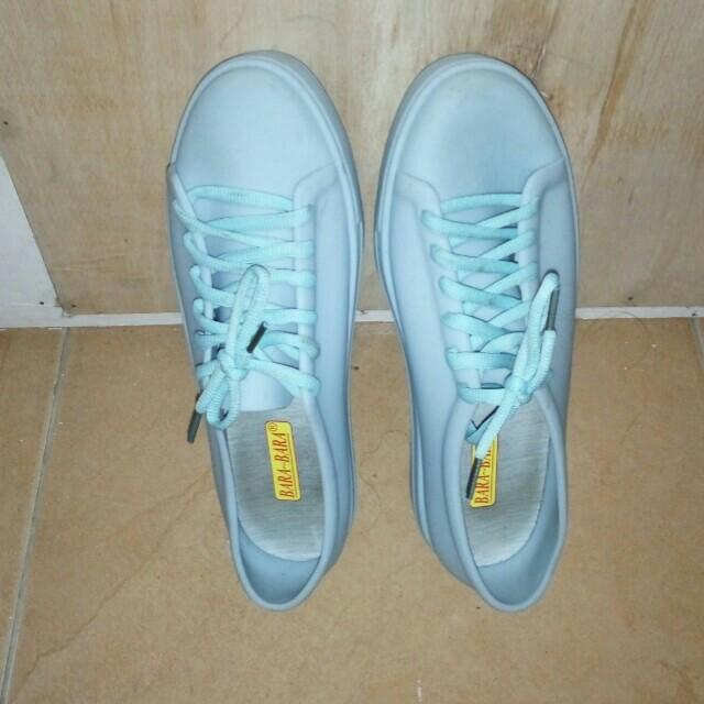 Jelly shoes blue ukuran 40