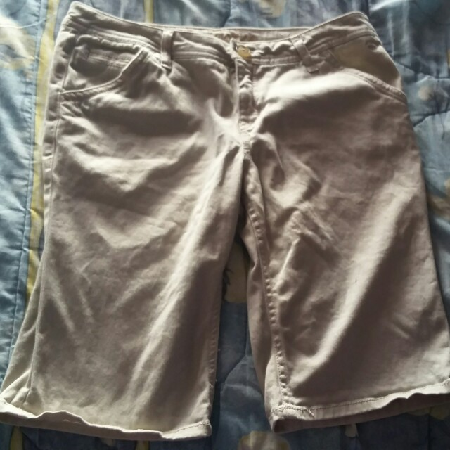 Justice Cotton Khaki Shorts