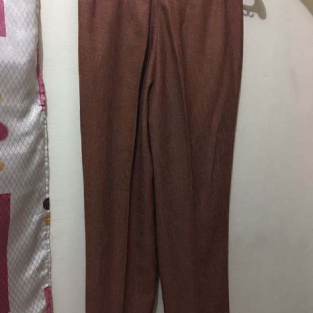 Khaki and Brown Pants (L) Pre-loved
