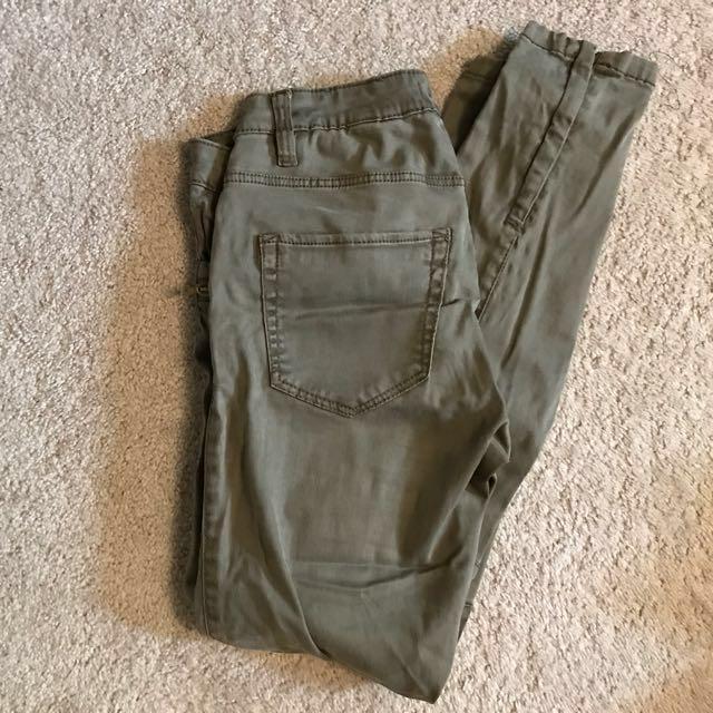 Khaki army pants