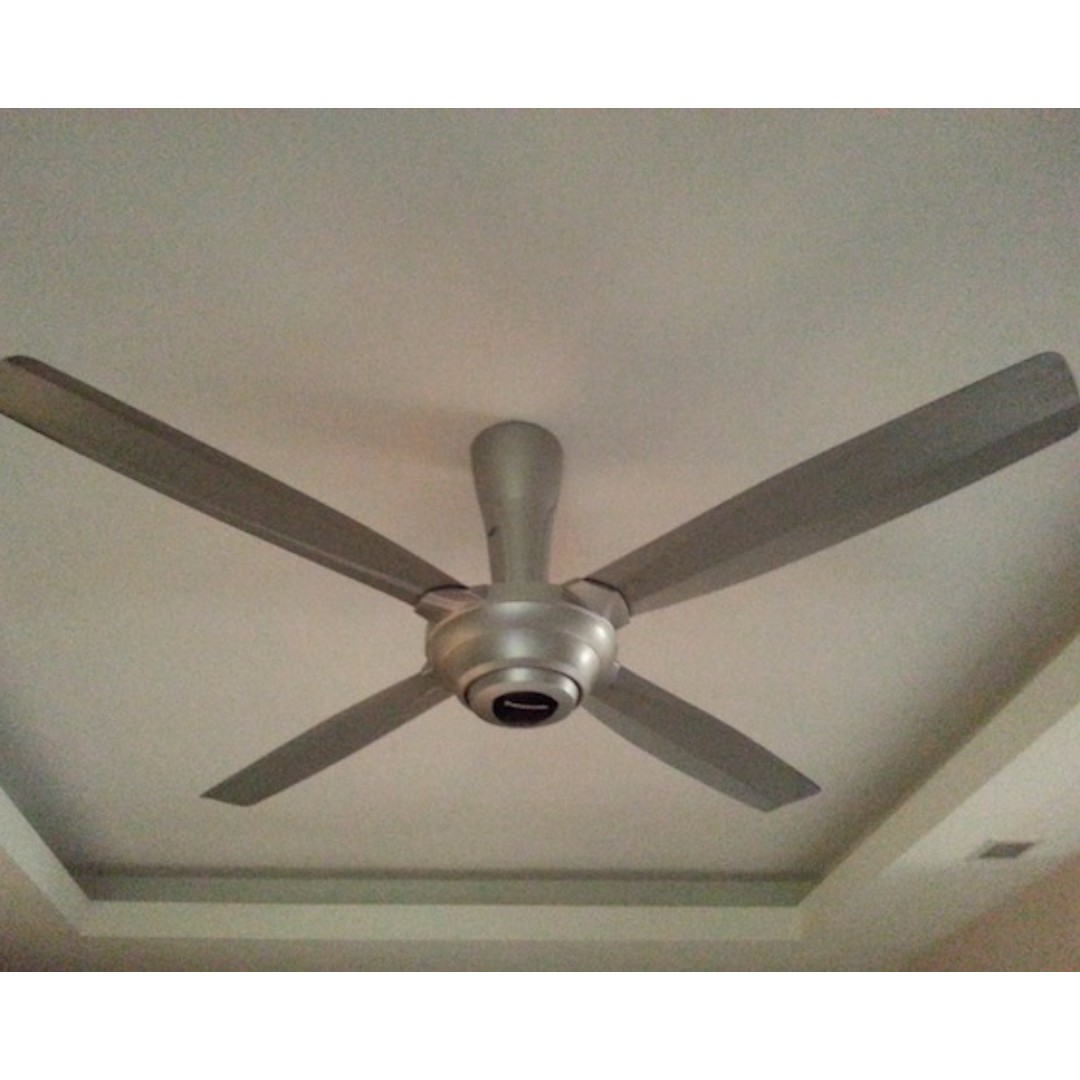 Panasonic 5 Blade Bayu Ceiling Fan With R Control White Fm14d5vbwh Source Photo