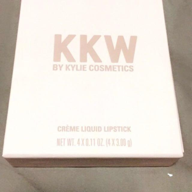 KKW creme lipsticks