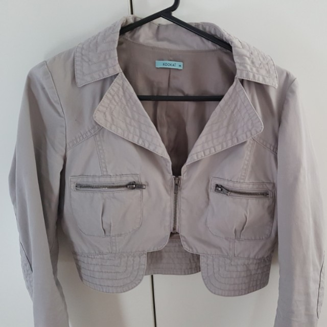 Kookai cropped military jacket size 38