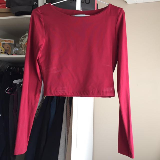 de18c250e4d Kookai Long Sleeve Crop Size 2, Women's Fashion, Clothes on Carousell