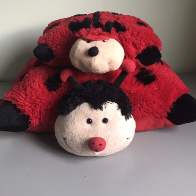 Lady bug pillow pets (one small one big)