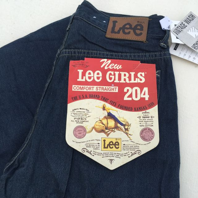 Lee老品庫存牛仔褲 軟布 深藍直筒高腰褲 26腰 s號❤️任選兩件減100✨古著復古vintage a31