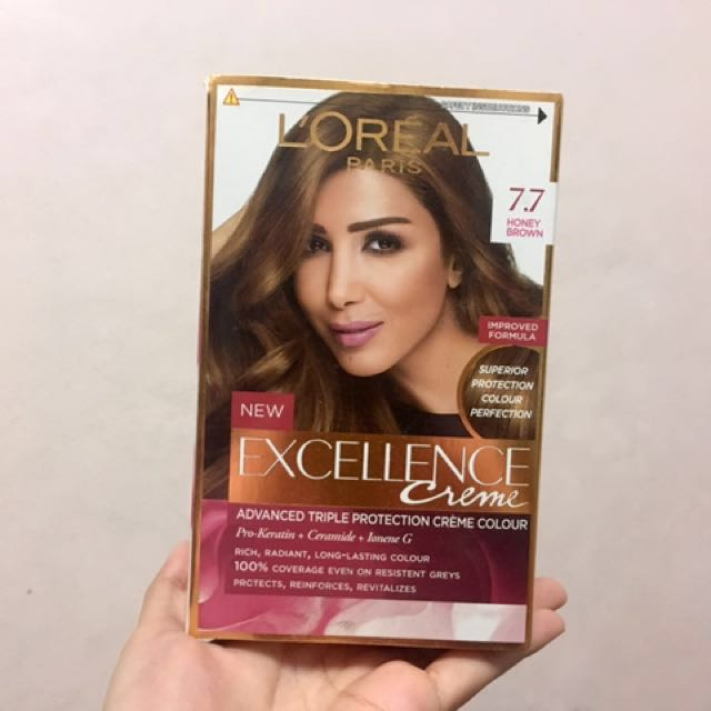 Loreal Excellence Creme Hair Color 77 Honey Brown Preloved Health