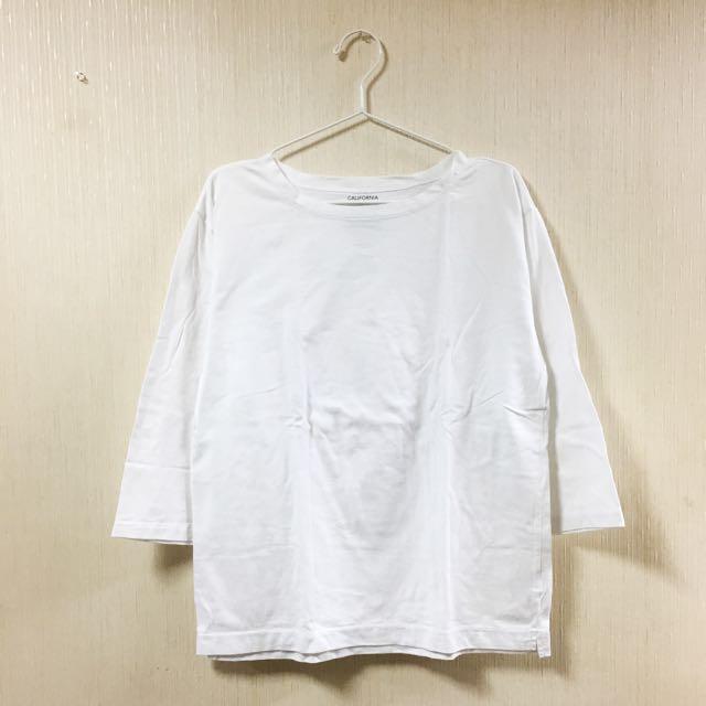 Lowrys Farm Men 七分袖T恤 白色M號