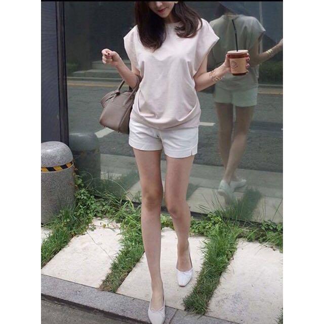 韓貨-白色貼身短褲(M號)
