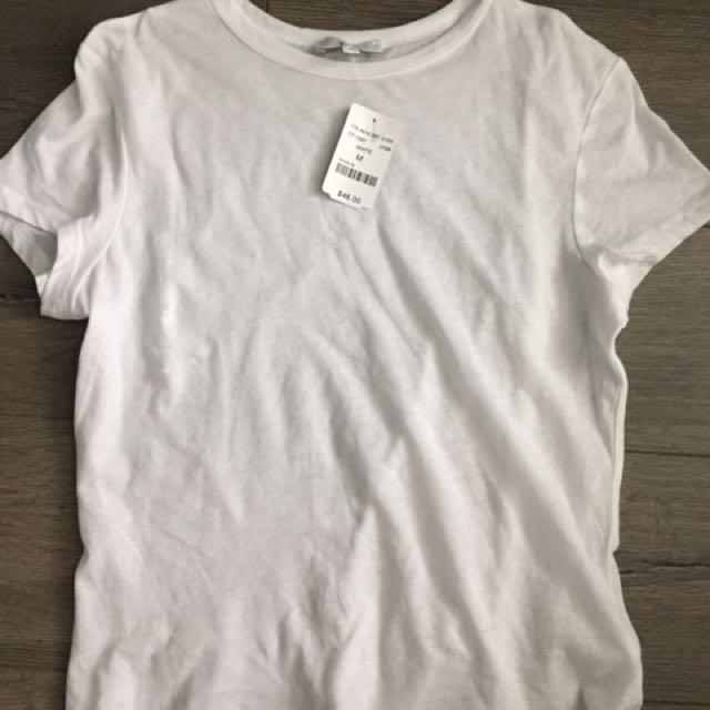 M (MENDOCINO) WHITE T-SHIRT