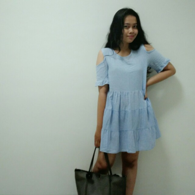 Merong Plaid Dress Korea