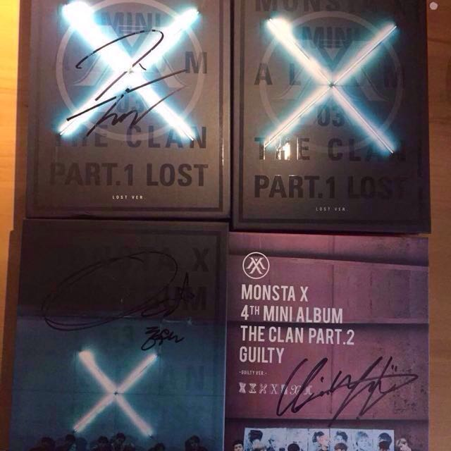 Monsta X Signed Albums