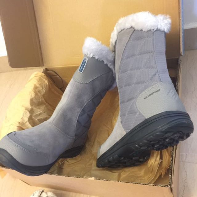 148c2e211d2 New Columbia Ice Maiden II Slip Snow Winter Ski Boots Shoes Leather  Waterproof Size 39