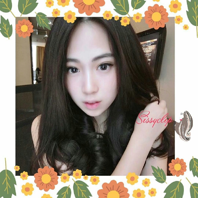 NEW hairclip wave 40cm darkbrown