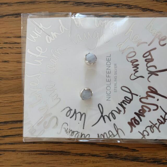 Nicole fendel sterling silver brand new earrings