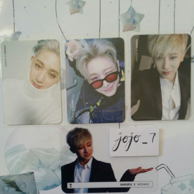 Official Wonho Photocards