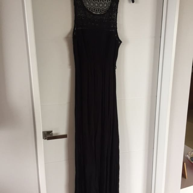 Pagani full length black dress