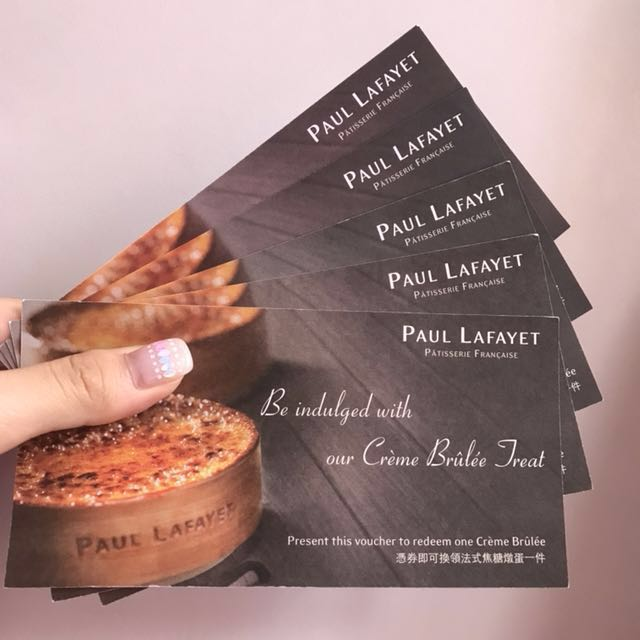 Paul Lafayet Cream Brulee Voucher
