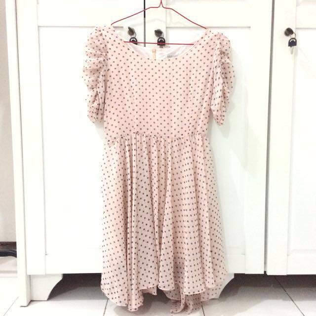 Polka Chiffon Dress