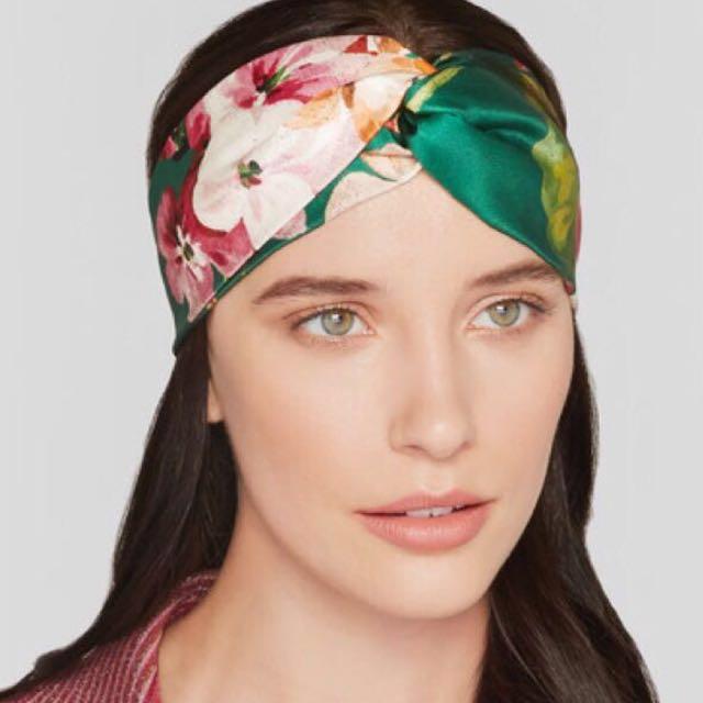 *price lowered* gucci blooms print silk headband