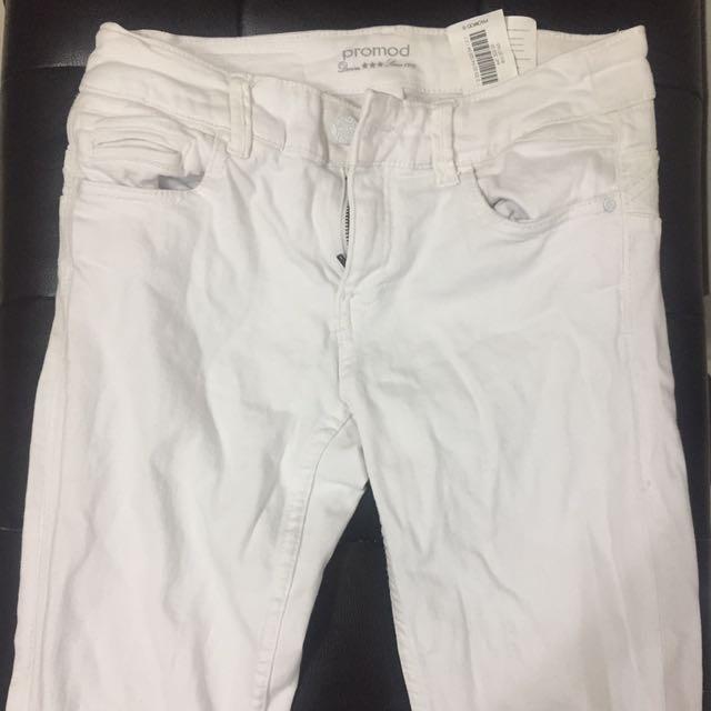 Promod White Denim Jeans (Pants)