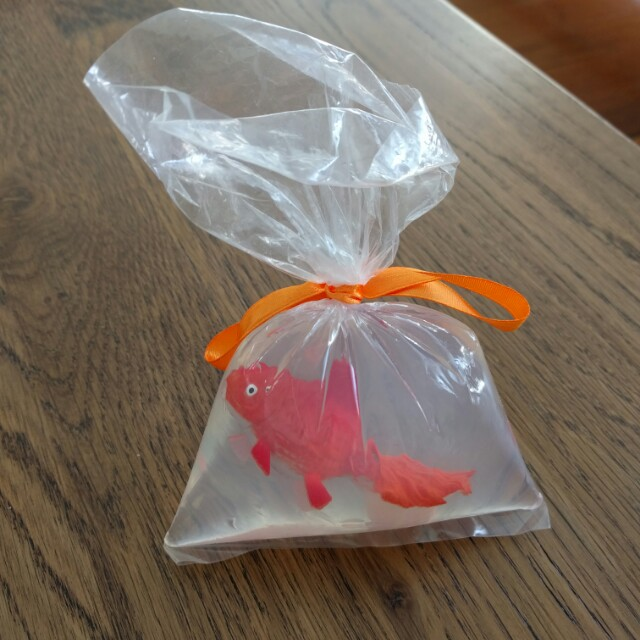 Quirky fish in bag soap