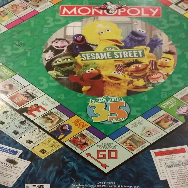 Rare Original Hasbro Parker Brothers Monopoly Sesame Street