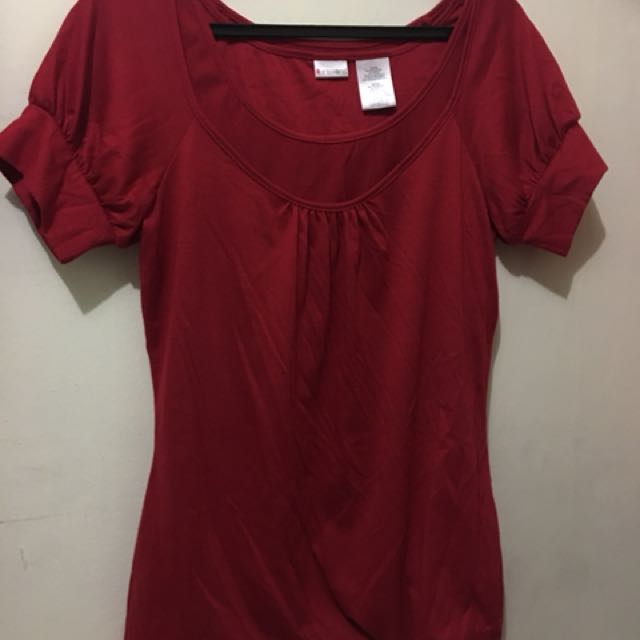 Red Blouse (L) Pre-loved