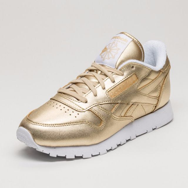 1f63e3a90bf Reebok x FACE Stockholm Classic Leather Spirit - Gold