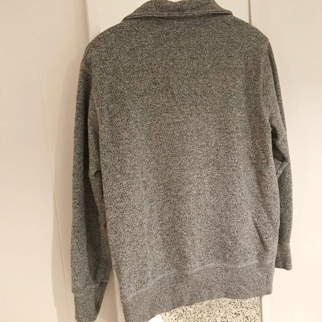 Roots Original Salt & Pepper Zip Polo Sweater