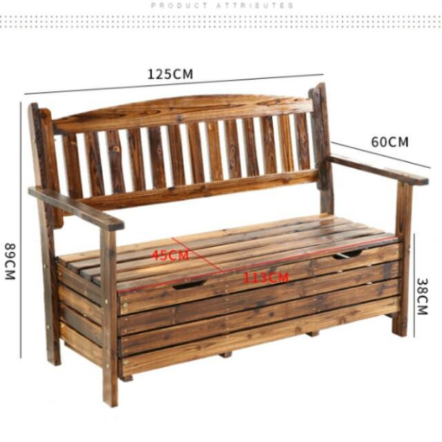 Rustic Outdoor Wooden Storage Garden