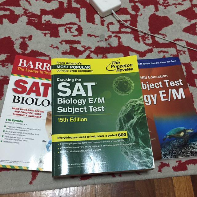 SAT subject test biology E/M, Books & Stationery, Textbooks