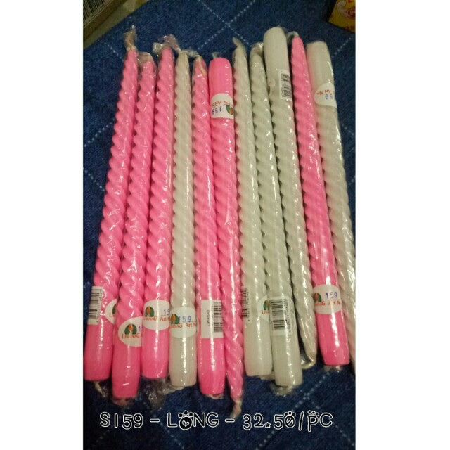 Spiral pink and white Candles