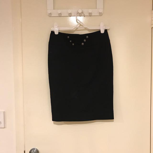 Sportgirl black pencil skirt