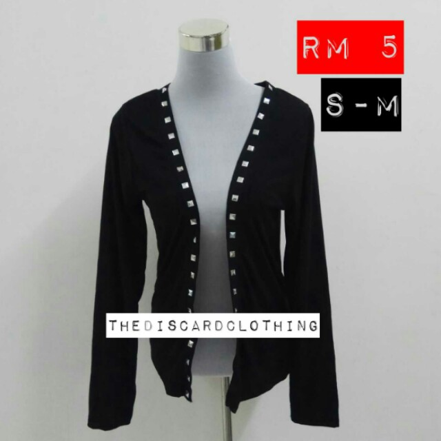 STUDED BLACK CARDIGAN