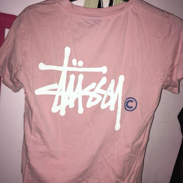 Stussy pink shirt
