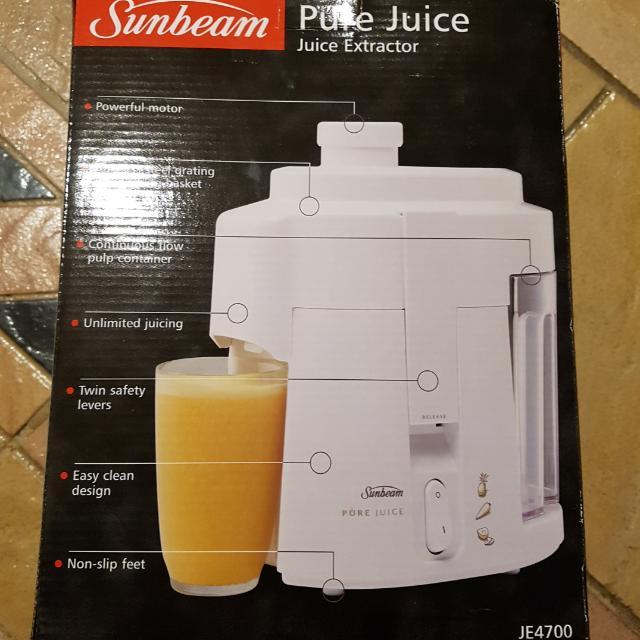 Sunbeam Pure Juice Extractor