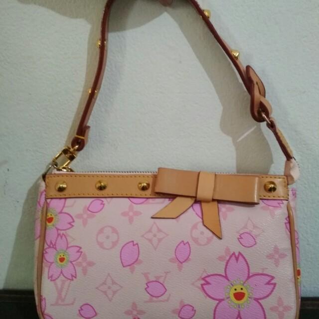Tas LV (Louis Vuitton) Seri Murakami Cherry Blossom Pink