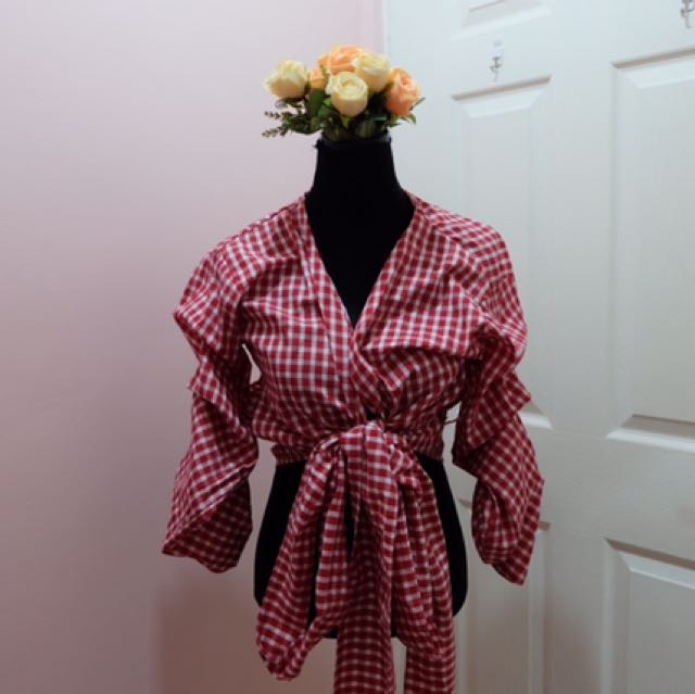 Tie Knot Top (red)