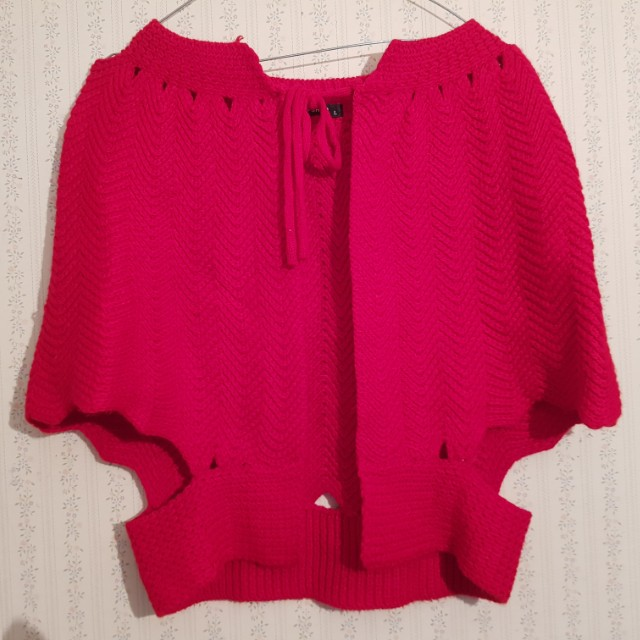 Topshop Size Large red wool cape