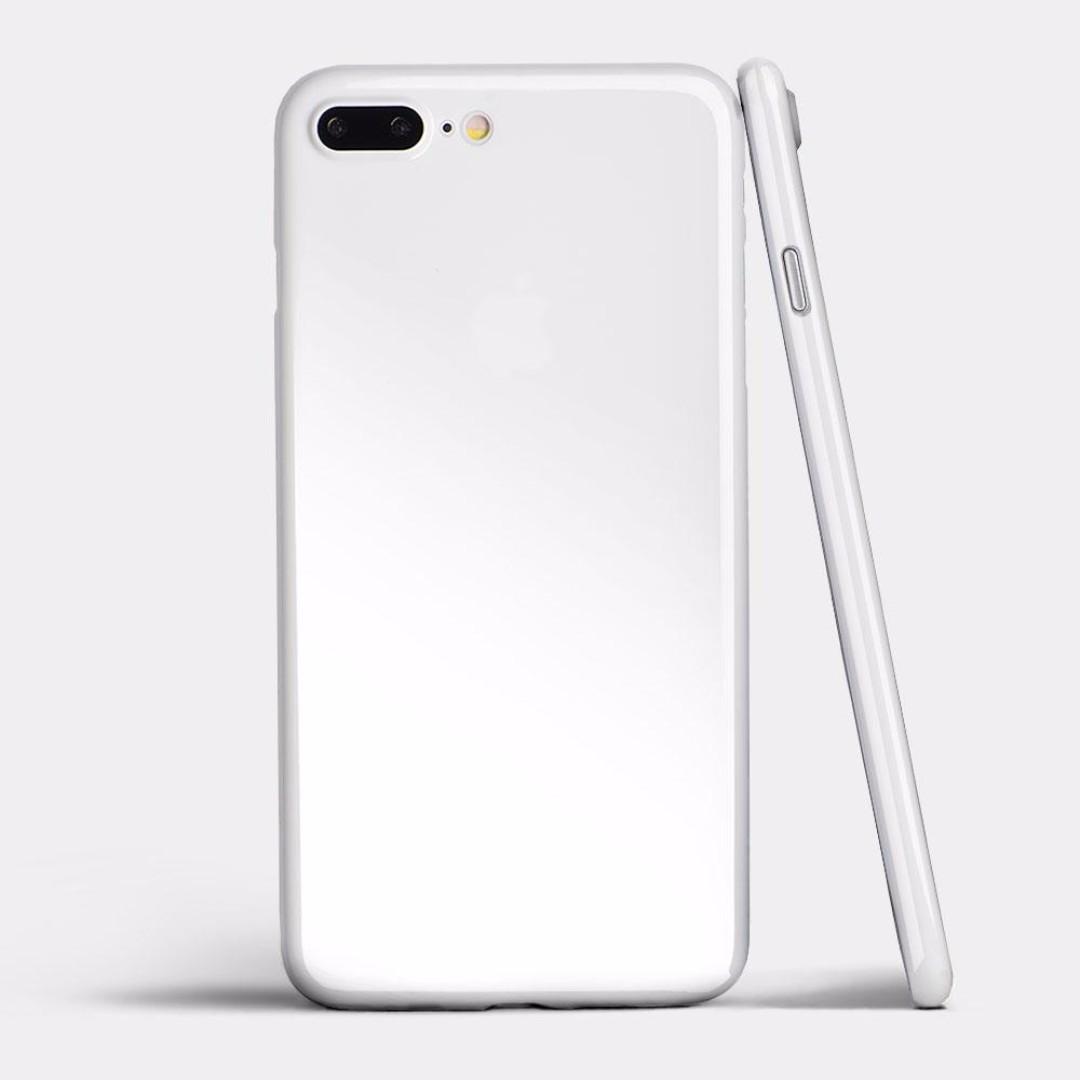 aef985230d0 totallee iPhone 8 8 Plus Case  Jet White Jet Black
